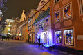 Street in Riga at night Royalty Free Stock Photo