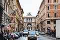 Street in rome italy december view of palace of justice from via giuseppe zanardelli italy on december the palace was designed by Royalty Free Stock Photos