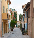 Street in saint tropez the centre of town provence france Royalty Free Stock Image