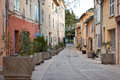 Street in saint tropez france typical winter season provence Royalty Free Stock Images