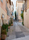 Street in saint tropez provence france traditional architecture the streets of mediterranean town Stock Photo