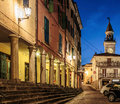 Street in san marino at night the old town Stock Photos