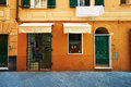 Street of santa margherita ligure in italy town Royalty Free Stock Photos