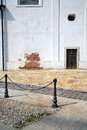 Street santo antonino lombardy of a curch and marble italy varese abstract pavement Stock Photo