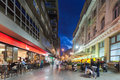 Street in sarajevo bosnia and herzegovina aug crowded at night on august b h is listed national geographic Stock Images