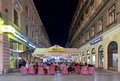 Street in sarajevo bosnia and herzegovina aug crowded at night on august b h is listed national geographic Royalty Free Stock Image