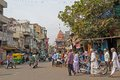 Street scene in ahmedabad february gujarat india Royalty Free Stock Photo