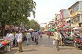 Street scene in ahmedabad february gujarat india city Stock Photos