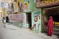 Street scene with artist shop in cairo egypt Stock Images