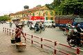 Street scene central hanoi vietnam Stock Photos