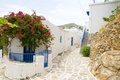 Street scene in the greek cyclades islands Stock Image