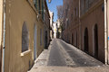Street scene marseilles alley france Stock Photo