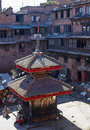 Street scene nearby bhaktapur square nepal Royalty Free Stock Photo
