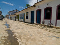 Street Scene, Paraty, Brazil. Royalty Free Stock Photo