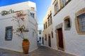 Street scene on Patmos island Royalty Free Stock Photo
