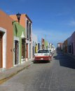 Street scenery in campeche sunny mexico Stock Photography