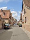 Street scenery in mittelbergheim sunny a village of a region france named alsace Royalty Free Stock Images