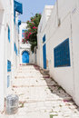 Street in Sidi Bou Said Stock Images