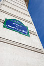 Street sign of avenue des champs elysees Royalty Free Stock Photography