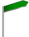 Street sign blank green on white background vector illustration Royalty Free Stock Images