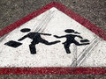 Street sign - Children crossing Stock Image