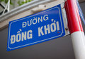 Street sign in Dong Khoi street Stock Photography