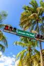 Street sign Lincoln Road Mall Royalty Free Stock Photo