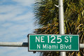 Street sign ne st north miami beach florida usa Stock Photography