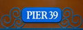 Street sign of Pier 39 in Fisherman Wharf San Francisco Royalty Free Stock Photo