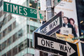 Street signs Times Square Royalty Free Stock Photo