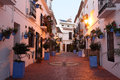 Street in spanish town Estepona Royalty Free Stock Photo