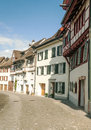 Street stein am rhein in switzerland on a sunn yday it s a vertical picture Royalty Free Stock Photo