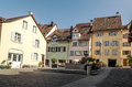 Street stein am rhein in switzerland on a sunnyday it s a vertical picture Stock Image
