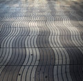 Street stones patterns wave on a in barcelona Royalty Free Stock Photos