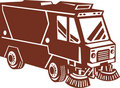 Street sweeper cleaner truck Stock Photos