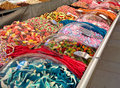 Street sweet stall shop market selling tasty sweets Stock Photo