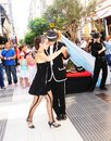 Street tango in buenos aires argentina Royalty Free Stock Photos