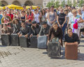 Street theater kamchatka in krakow festival ulica art http www kamchatka cat the show php Stock Image