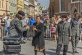 Street theater kamchatka in krakow festival ulica art http www kamchatka cat the show php Stock Images