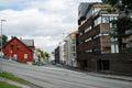 Street of Tromso. Royalty Free Stock Photo