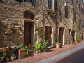 Street in tuscany ancient th century housing a small village Royalty Free Stock Photography