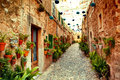 Street in Valldemossa village Royalty Free Stock Photo