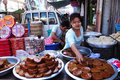 Street vender in Myanmar Royalty Free Stock Photos