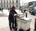 Street vendor a in downtown san salvador el salvador in central america Royalty Free Stock Photo