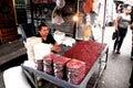 Street vendor a in downtown san salvador el salvador in central america Royalty Free Stock Images