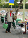 Street vendor in madrid may unidentified is selling souvenir the on may Stock Photo