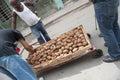Street Vendor Selling Mamay Fruit Havana Cuba Royalty Free Stock Photo