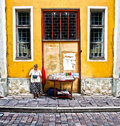 Street vendor Tallinn Estonia Royalty Free Stock Photos