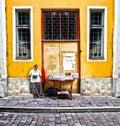 Street vendor Tallinn Estonia Royalty Free Stock Photo