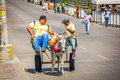 Street vendors in colombia s most important barranquilla february folklore celebration the carnival of barranquilla Stock Image